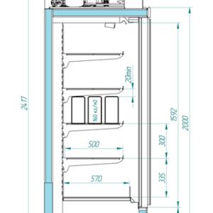 Шкаф низкотемпературный ШН 1.80-6.0 ANZIO LT 3D 2343 Д