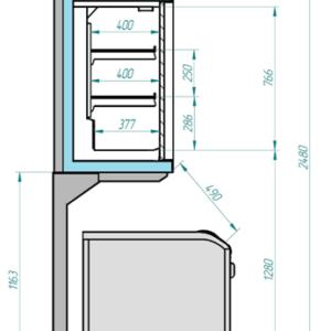 Шкаф низкотемпературный ШН 0,73-2,8 CORSA LT 2500