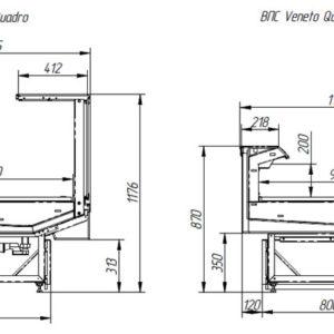 Витрина холодильная ВПC 0,195-1,2 (Italfrigo Veneto Quadro 1250 Д)